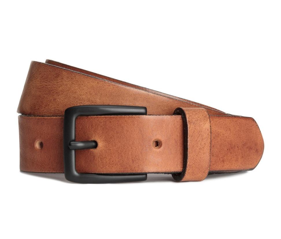 dây thắt lưng HM Leather da nâu chính hãng