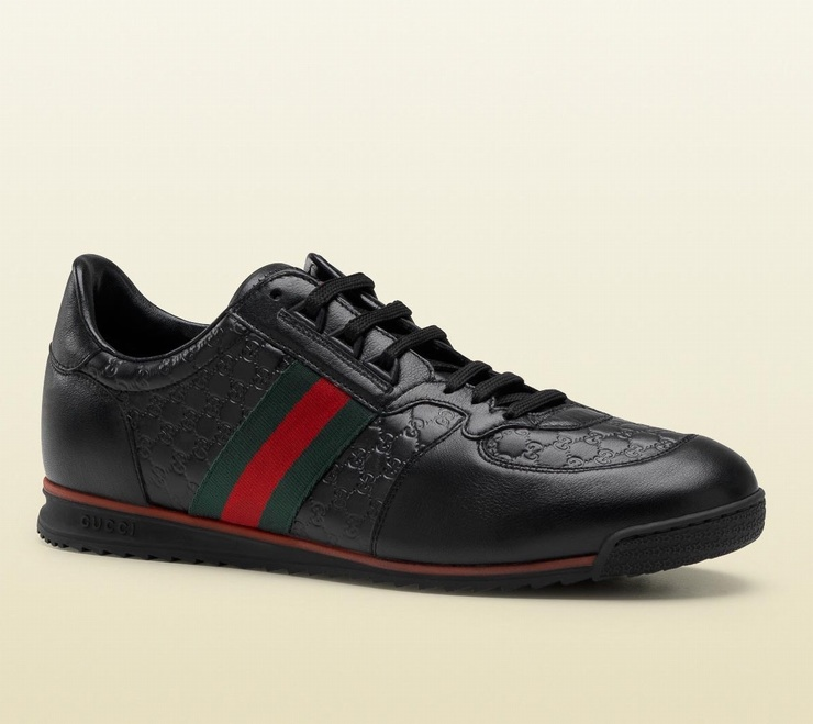 Giày Da Sneaker Gucci Lace-Up