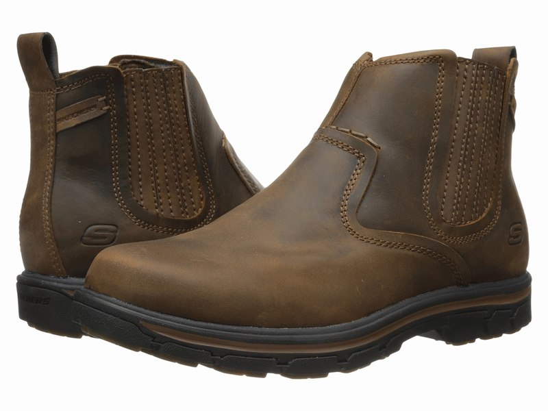 Giày Boot Da Nam SKECHERS Relaxed Fit Segment - Dorton 1