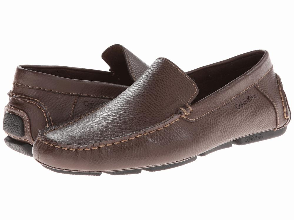 Giày Lười Da Nâu Nam Calvin Klein