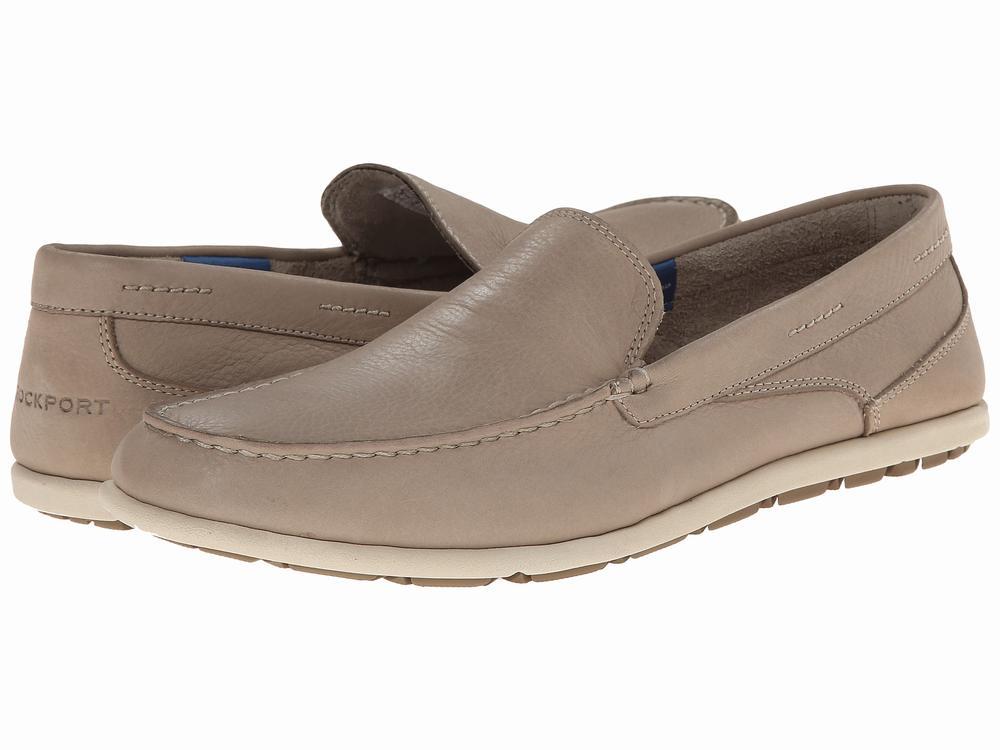 Giày Lười Xám Da Nam Rockport