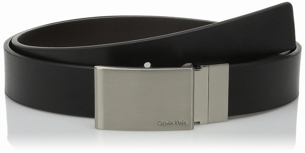 Thắt Lưng Calvin Klein Nam 30mm Feather Da Đen Xách Tay