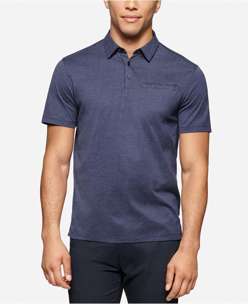 Áo Phông Polo Nam Calvin Klein Slim-Fit Chambray Chính Hãng 1