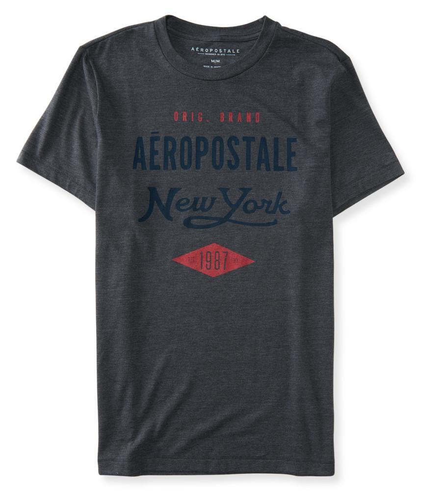 Áo Thun Nam Aeropostale New York Diamond Xám Cổ Tròn