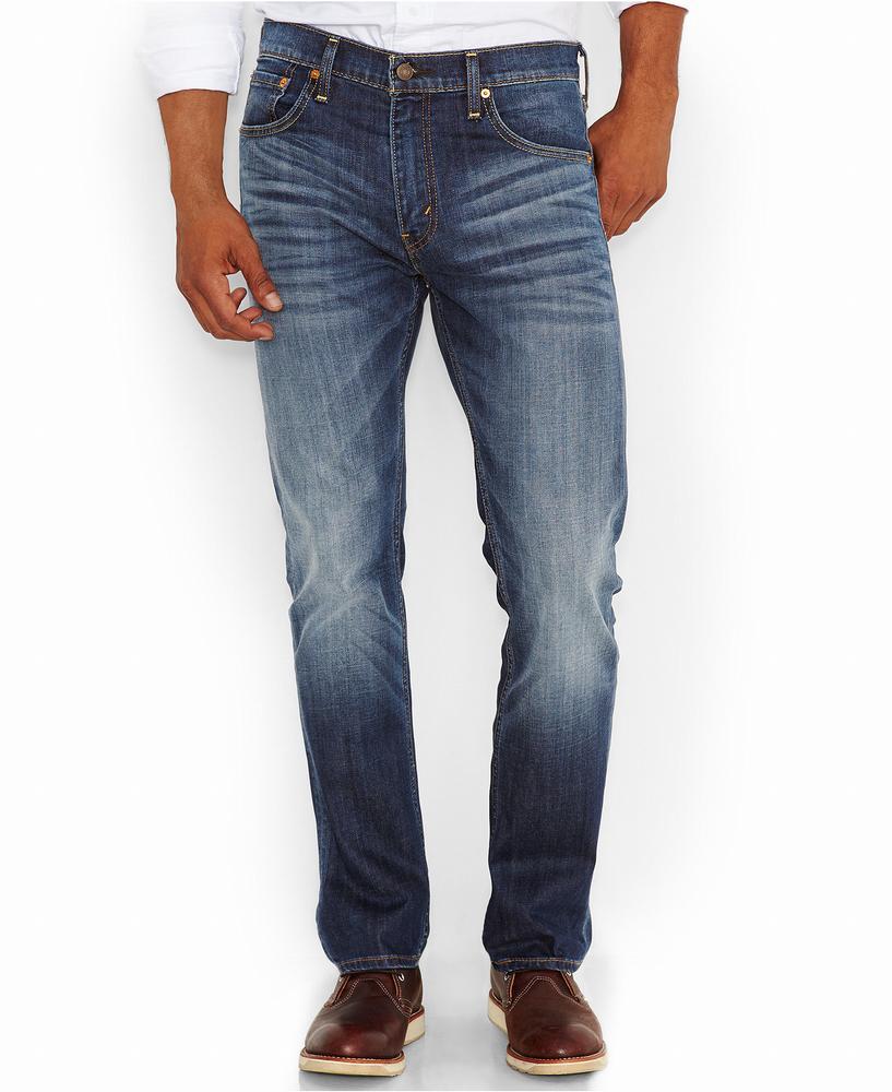 Quần Jean Nam Levi's 522 Slim-Fit Tapered-Leg Xanh Hàng Hiệu