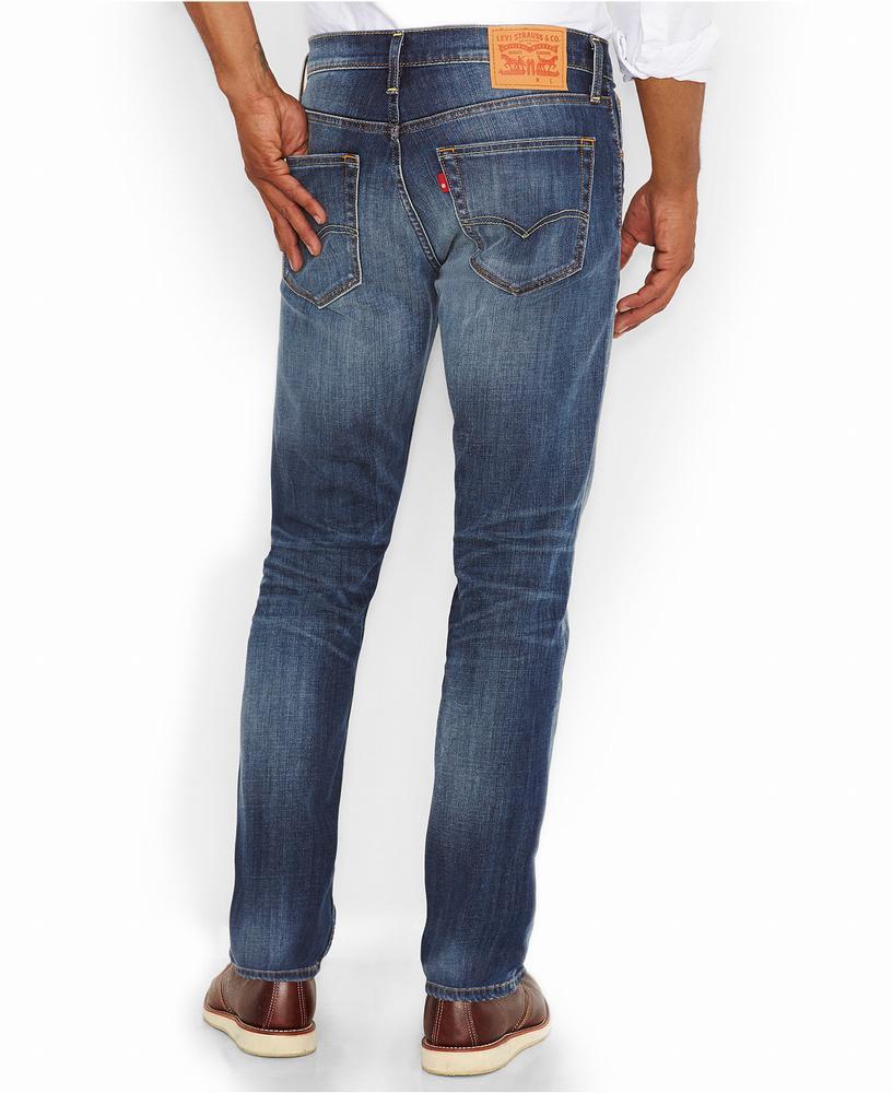 Quần Jean Nam Levi's 522 Slim-Fit Tapered-Leg Xanh Hàng Hiệu 1