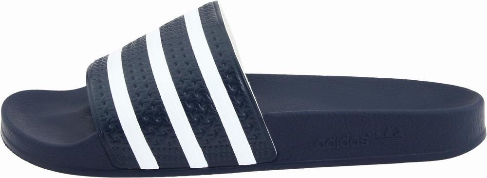 Dép Nam Adidas Adilette Slide Xanh Sọc Trắng Xách Tay 1