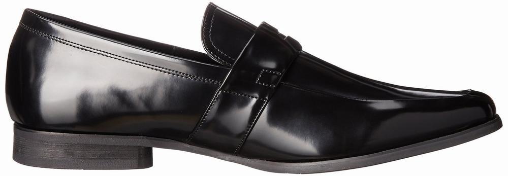 Giày Tây Lười Nam Da Đen Calvin Klein Carrigan Cao Cấp 1