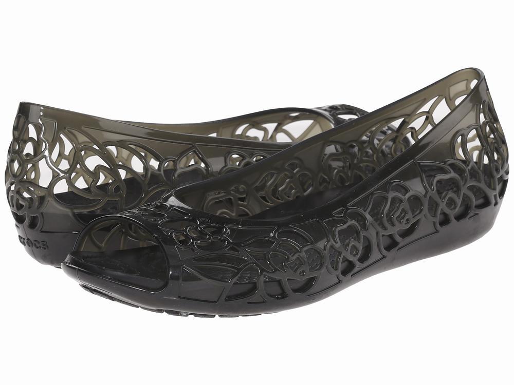 Giày Búp Bê Hở Mũi Nữ Crocs Isabella Hàng Hiệu 1