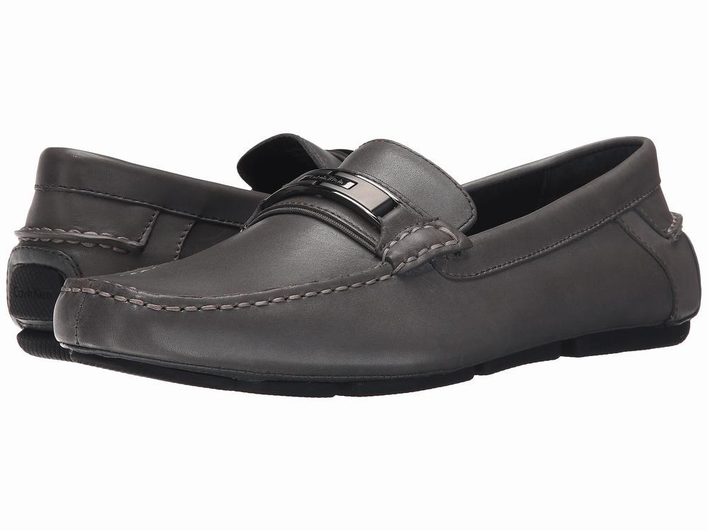 Giày Lười Da đen Nam Calvin Klein