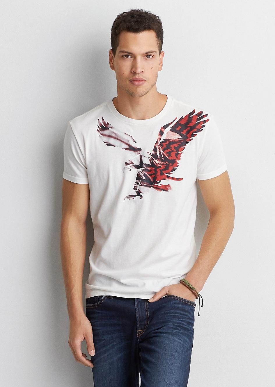 Áo Thun Nam American Eagle màu trắng