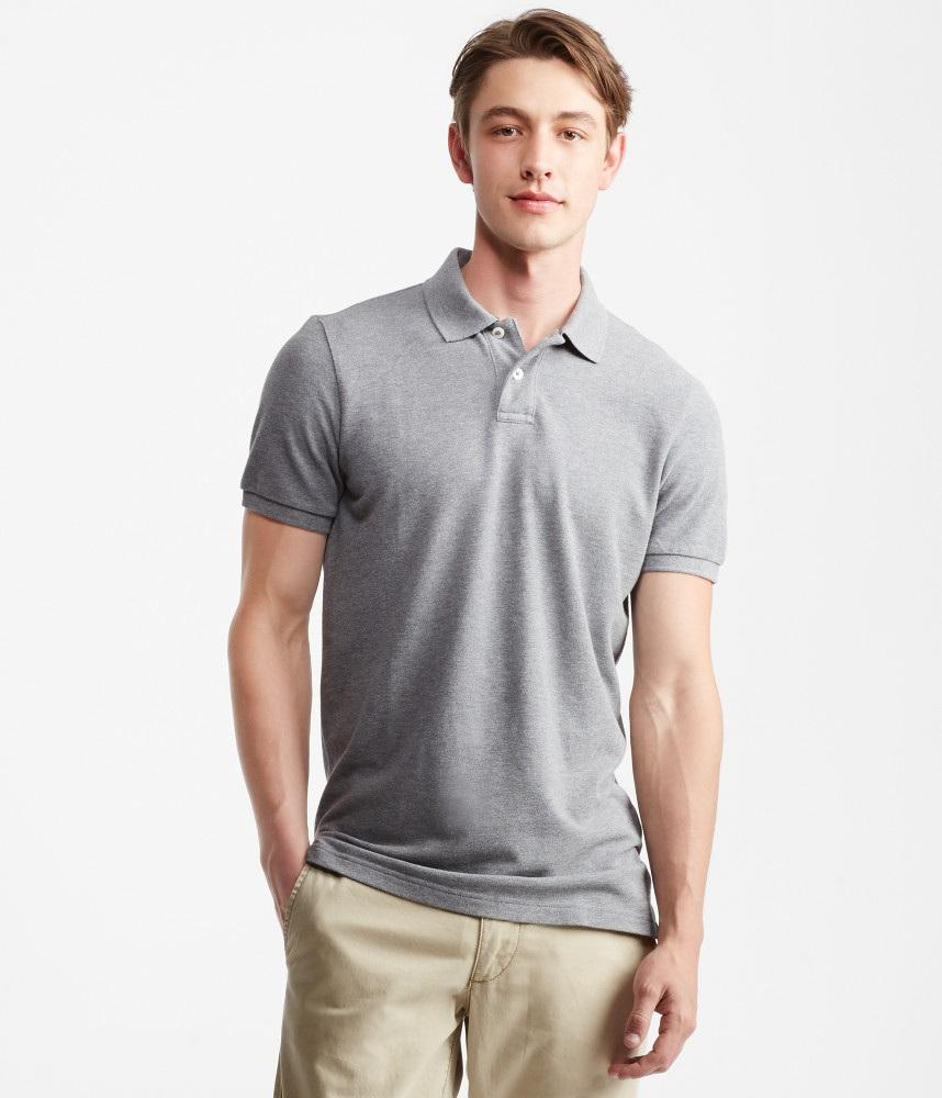 áo polo aero nam màu xám
