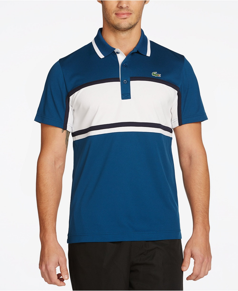 áo thun Lacoste Colorblocked Striped Ultra