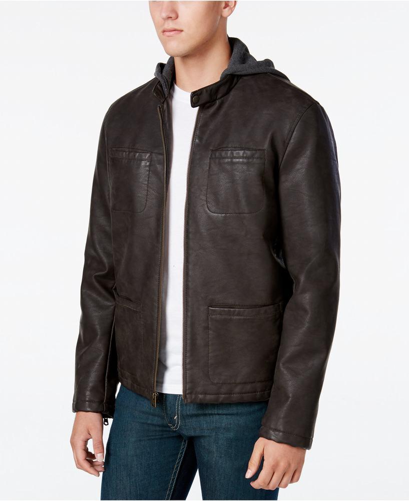 áo khoác da Levi's nam Zip-Up Racer