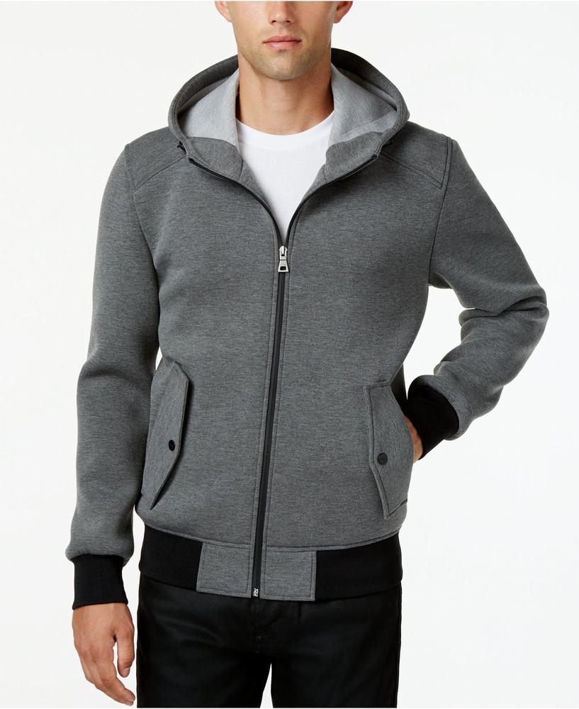 áo khoác nỉ GUESS nam Hooded Knit Bomber