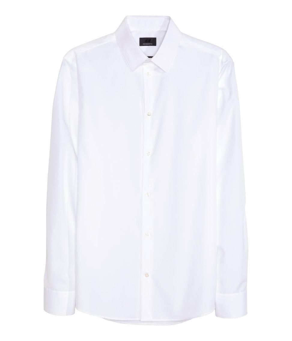 Áo Sơ Mi Nam H&M màu trắng