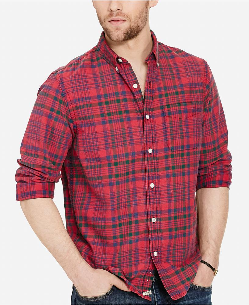 Áo Sơ Mi Denim Supply Ralph Lauren Plaid Oxford