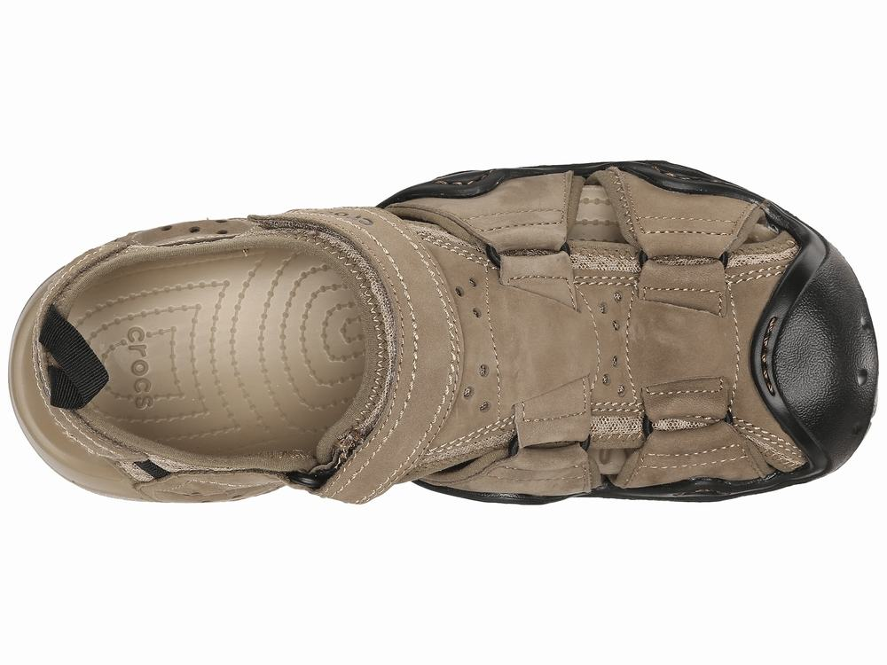 Giày Crocs Swiftwater Leather Fisherman