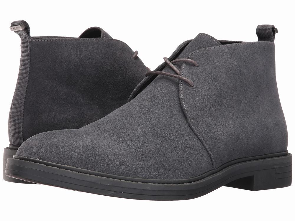 giày boot da lộn Calvin Klein Jae