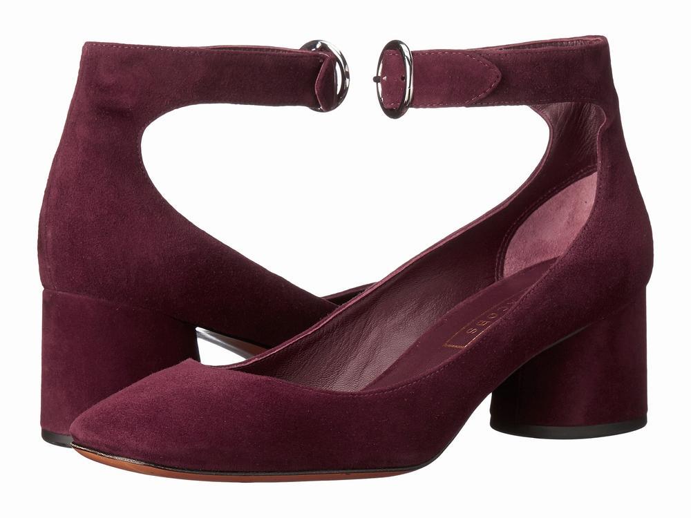 giày pump Marc Jacobs Kerry Ankle Strap da lộn