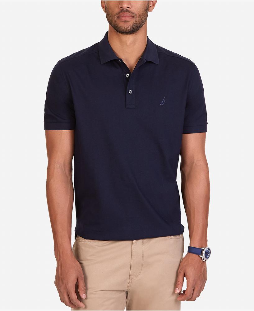 áo phông polo Nautica Shirt màu xanh đen