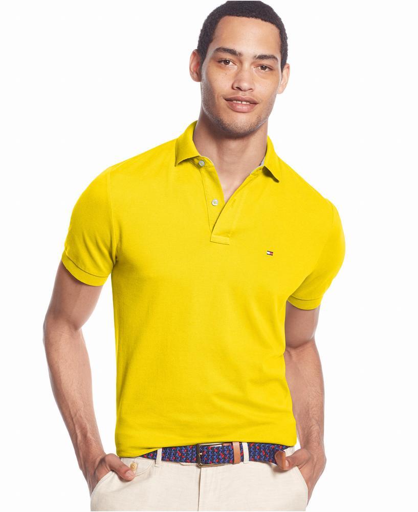 áo thun nam Tommy Hilfiger Custom-Fit vàng chính hãng