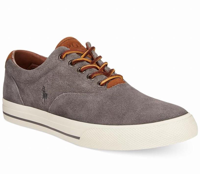 giày sneaker nam Polo Ralph Lauren Vaughn xám da lộn