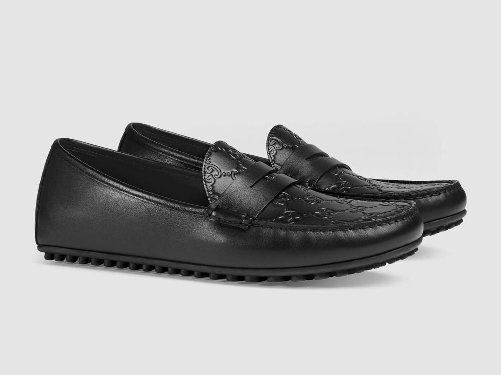 giày lười Gucci Signature driver in chìm logo chính hãng
