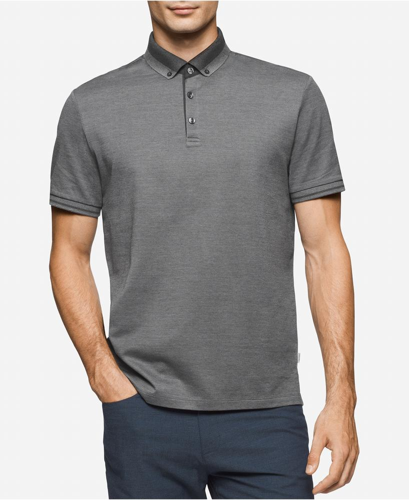 áo thun Calvin Klein nam Antonio Striped-Trim Polo