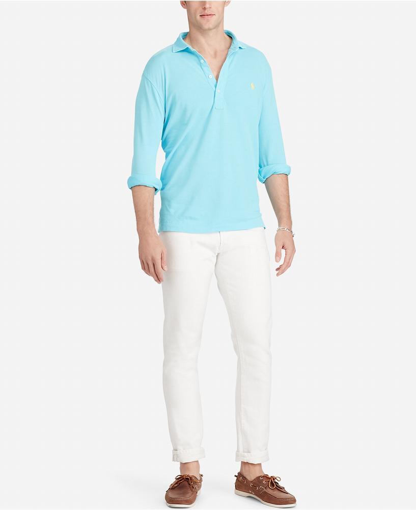 áo thun nam Polo Ralph Lauren Mesh tay dài cao cấp