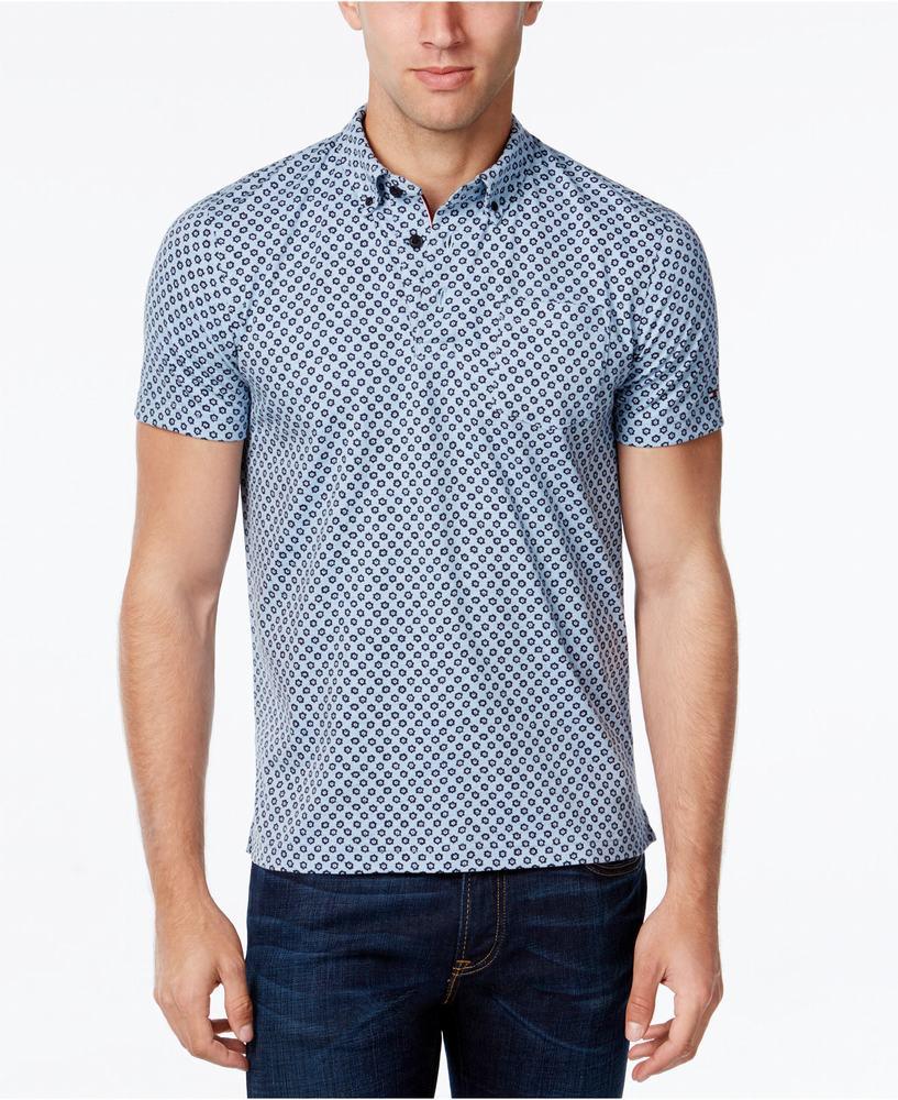 áo thun Tommy Hilfiger Isaac Sun-Print Polo chính hãng
