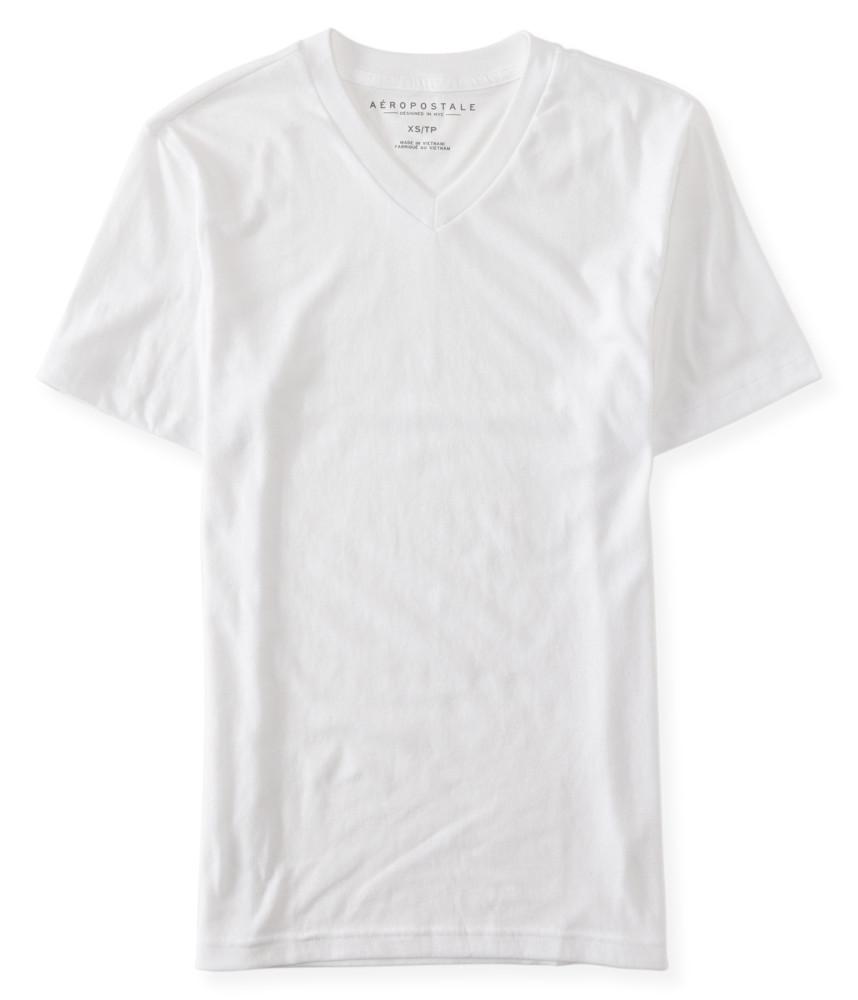 áo thun Aero Packaged cổ v trắng tay ngắn