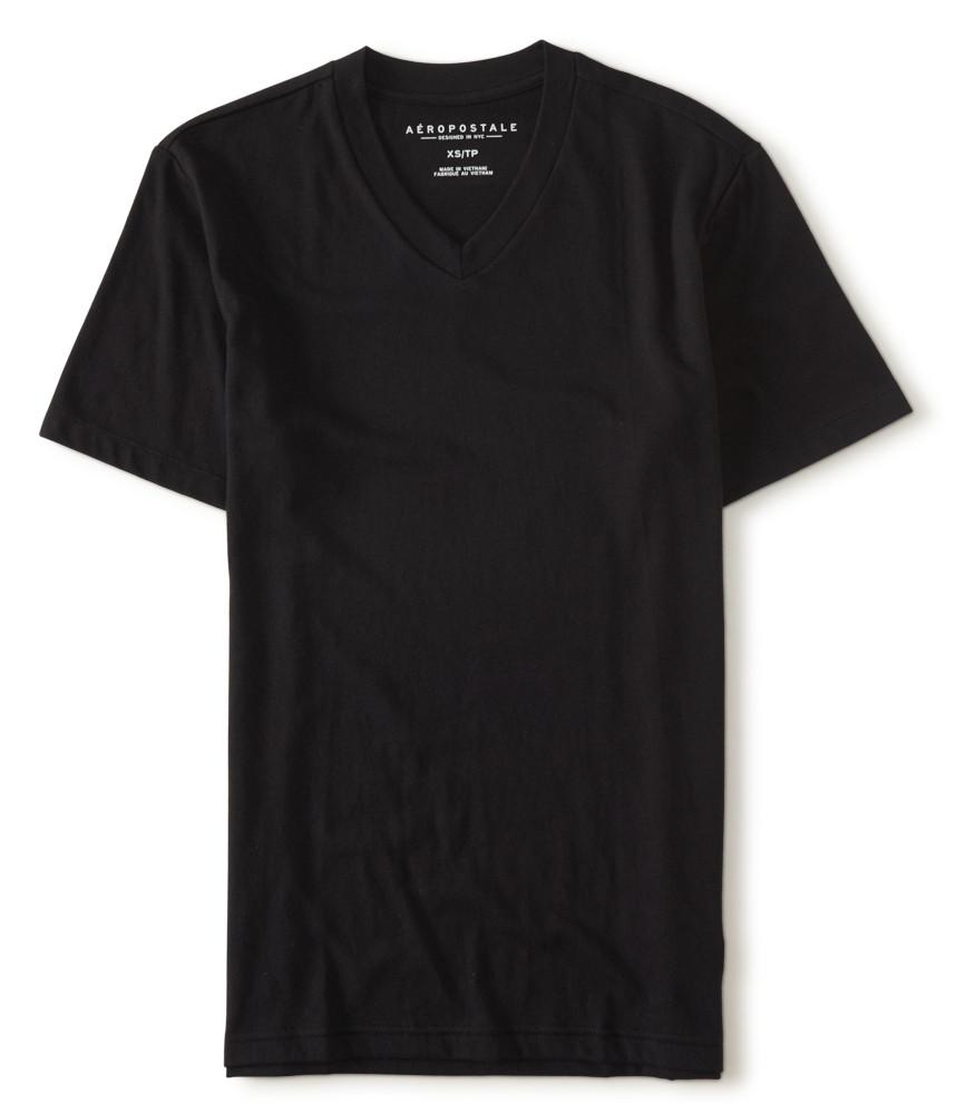 áo thun nam aeropostale Packaged cổ v đen chính hãng