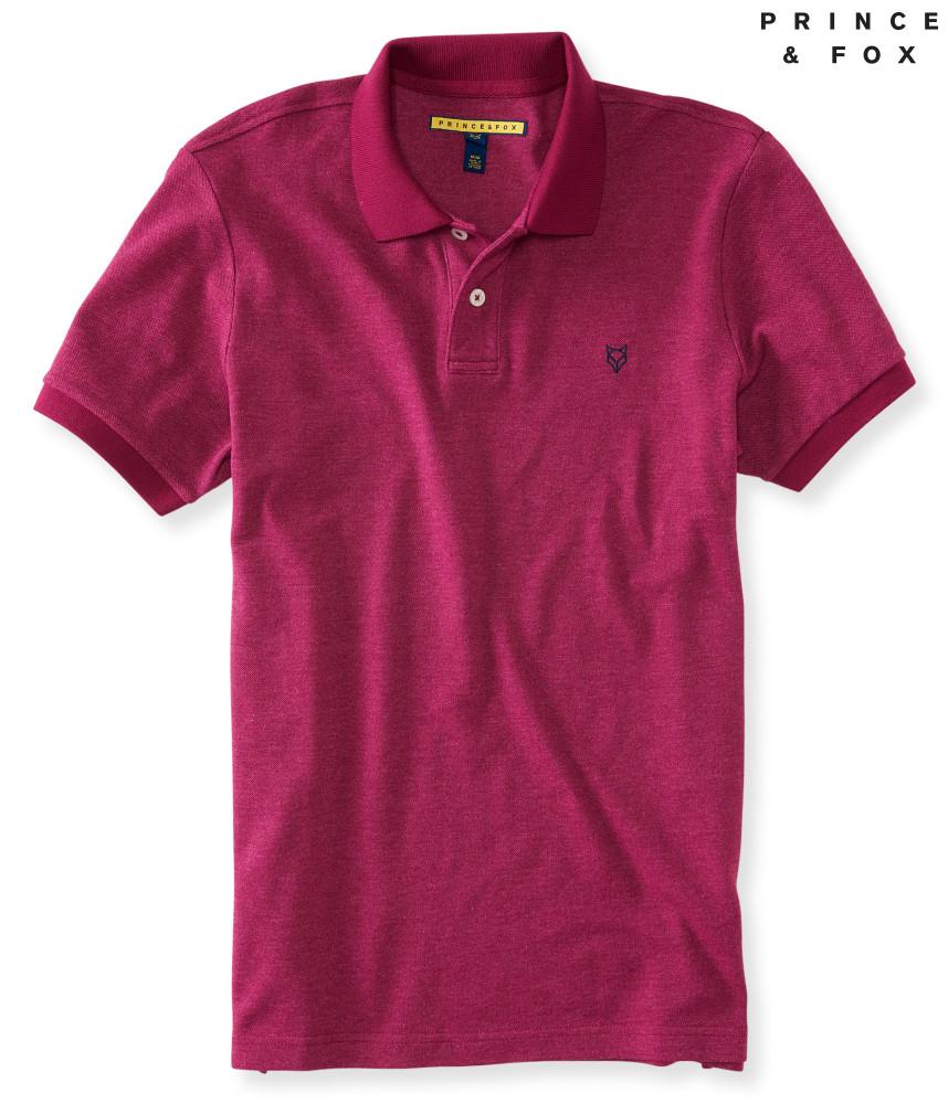 áo thun polo Aero Prince & Fox Faded đỏ mận hàng hiệu