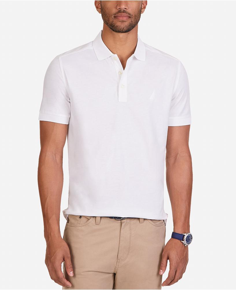 áo thun Nautica nam Softex Jersey Cotton trắng tay ngắn