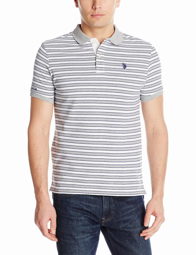 áo thun polo U.S. Polo Assn. nam Slim Fit Micro Shadow Stripe Polo Shirt