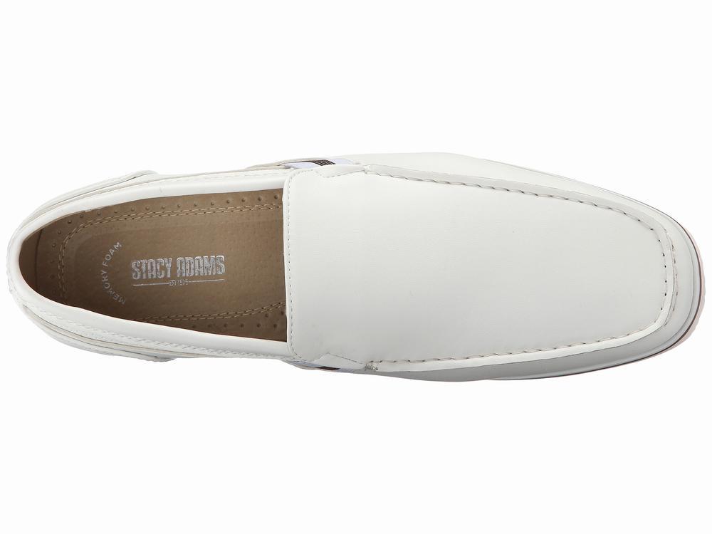 giày lười Stacy Adams Coy màu trắng chính hãng