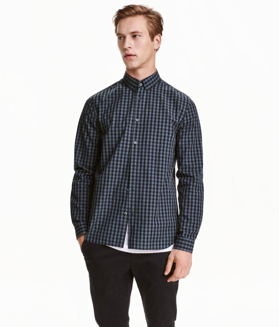 áo sơ mi HM Cotton Poplin Shirt