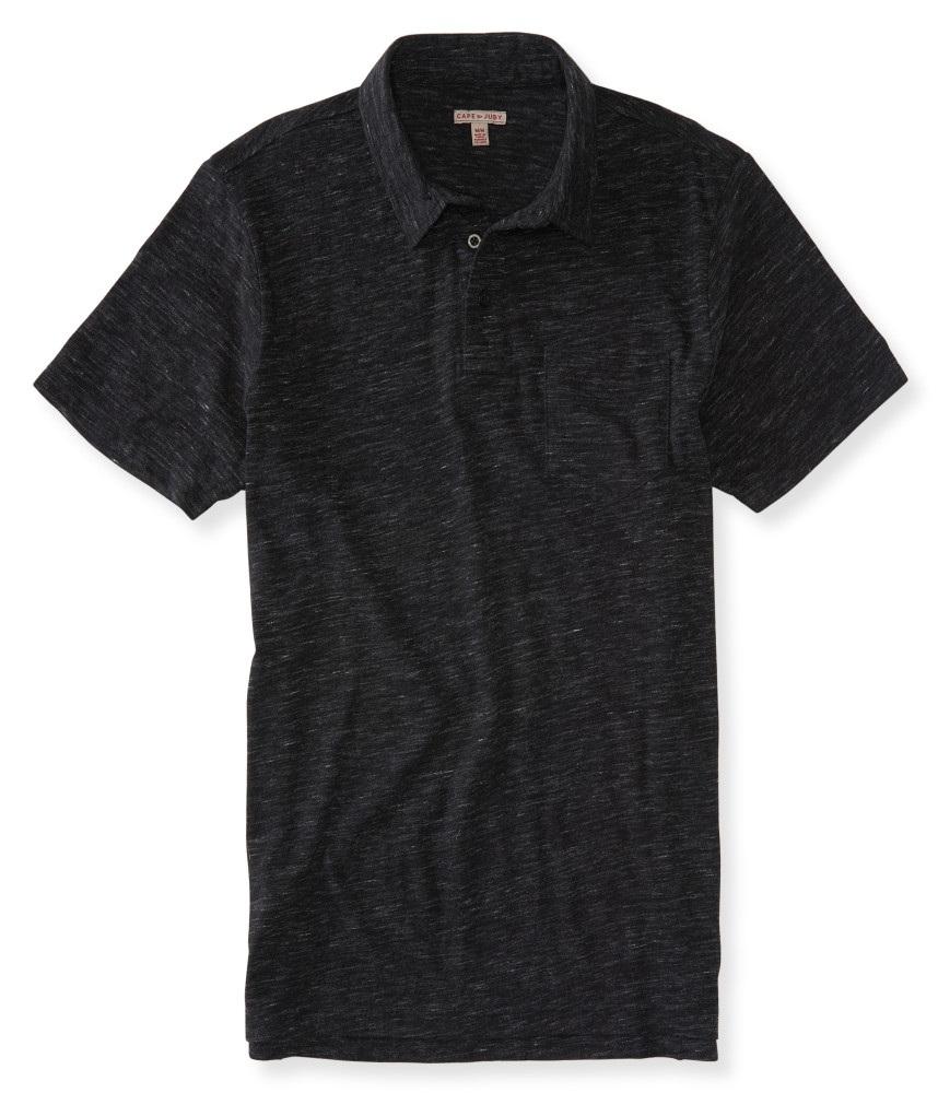 áo phông nam Aero Cape Juby Streaky đen tay ngắn