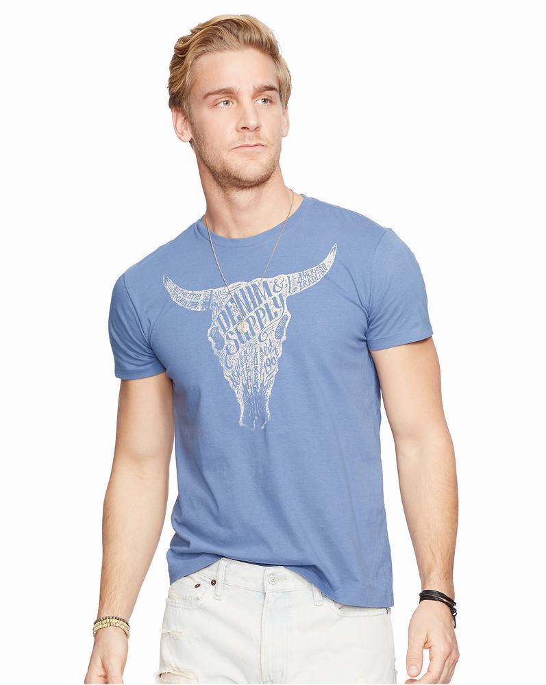áo thun Ralph Lauren Jersey xanh in Graphic chính hãng