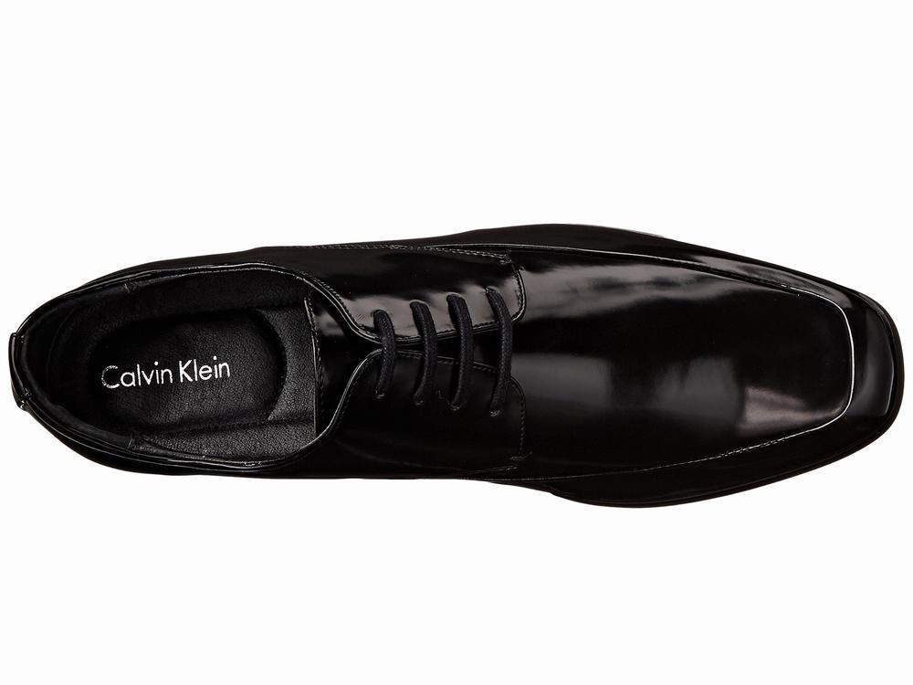 giày tây Calvin Klein Carwin da đen bóng hàng hiệu
