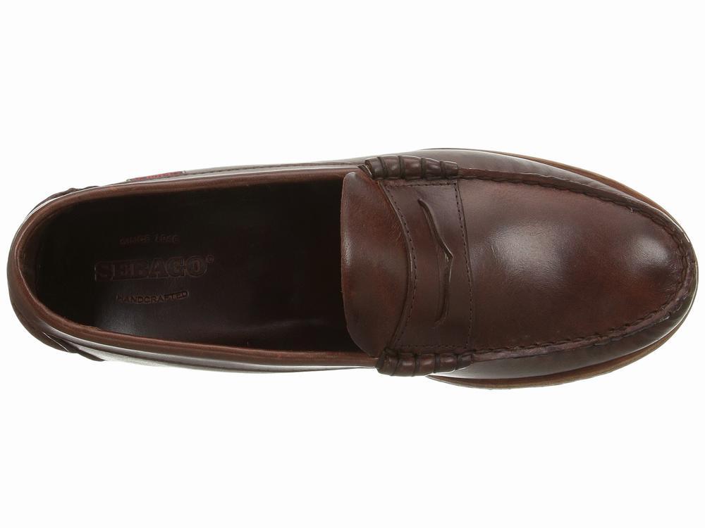 giày da lười Sebago Vershire da nâu chính hãng
