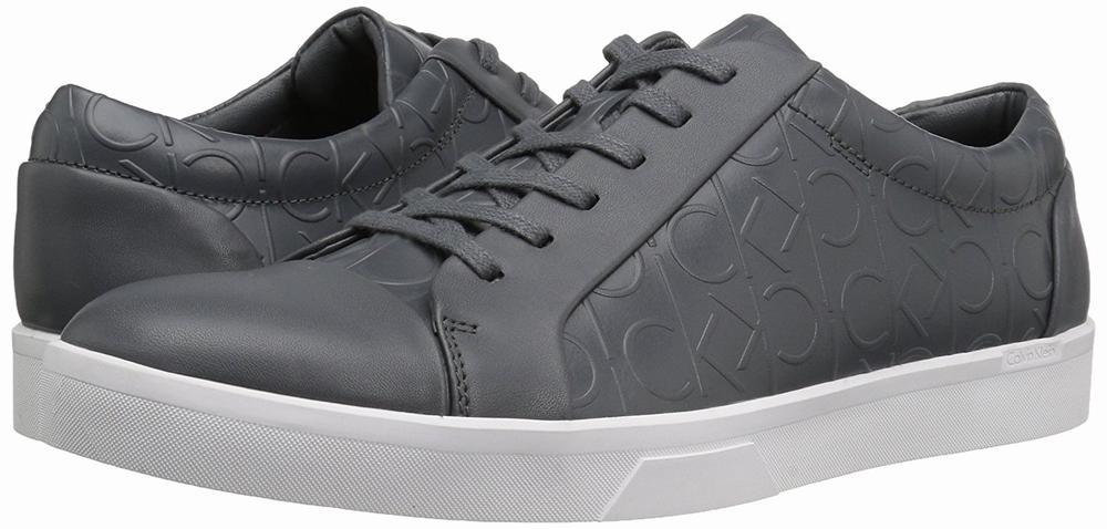 giày thể thao Calvin Klein Igor Brushed da xám cao cấp