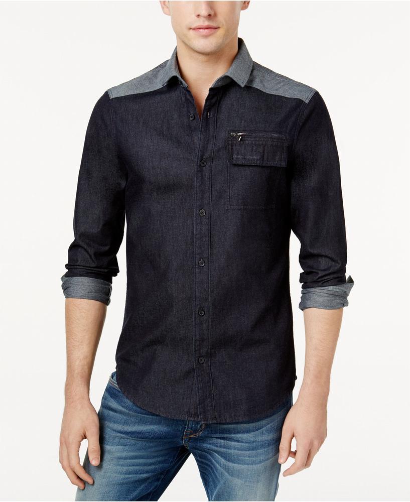 áo sơ mi denim nam Armani Exchange Shirt chính hãng