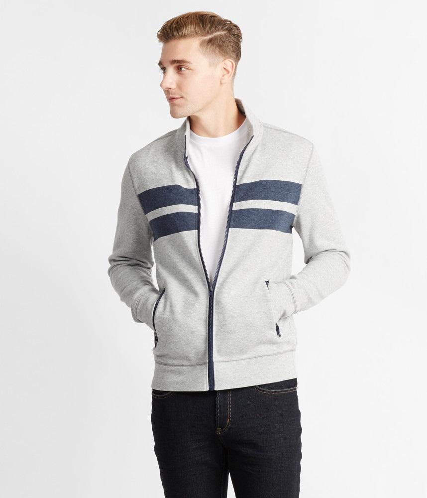 áo khoác nam Prince & Fox Chest Stripe Xám hàng hiệu
