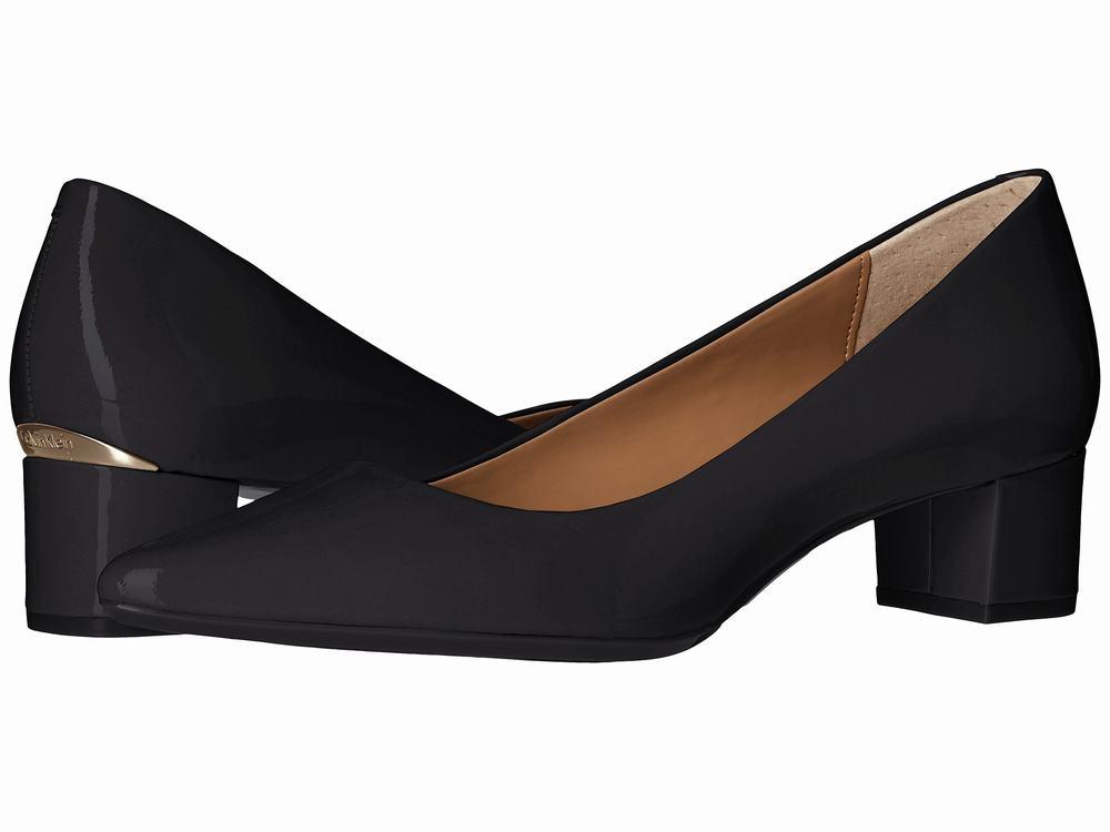 giày gót to cao vừa Calvin Klein Genoveva hàng hiệu