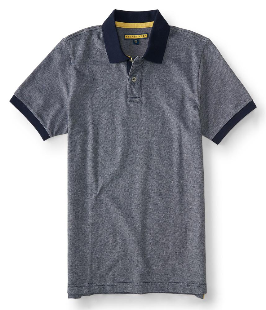 áo thun nam Prince & Fox Ringer Piqué Polo xanh đen