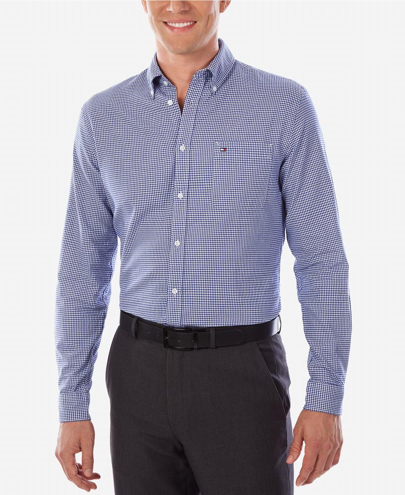 áo sơ mi Tommy Hilfiger dáng Slim xanh sọc cao cấp