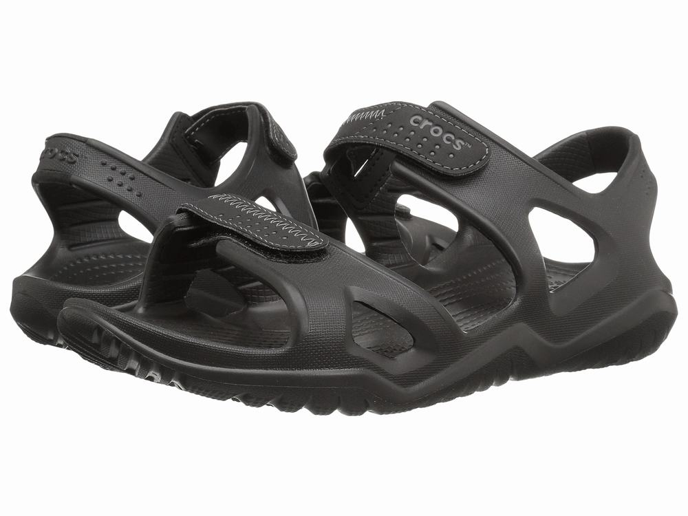 Giày Rọ Crocs Swiftwater Da Nam Fisherman