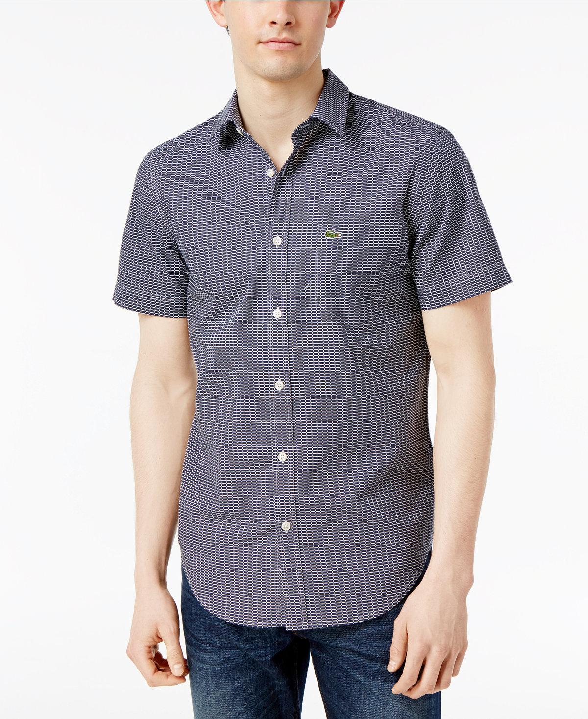 áo thun Lacoste Colorblocked Striped Ultra